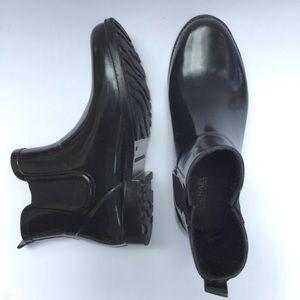 Michael Kors Rain Booties Black Women's Size 9